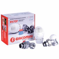 "Kit robineti colt termostat, pentru radiator Radox R470FX003, 1/2"""