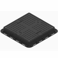 Capac PP negru, necarosabil A15, 700 x 700 x 80 mm, 4 inchideri