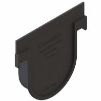 Placa capat PP, fara iesire, pentru rigola, H 155 mm