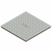 Capac Basic, pentru camin monolitic, otel zincat, A15, 400 x 400 mm