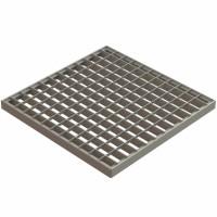 Grila Basic, pentru camin monolitic, otel zincat, A15, 400 x 400 mm