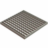 Grila Basic, pentru camin monolitic, otel zincat, A15, 300 x300 mm