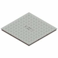 Capac grila, Basic, pentru camin monolitic, otel zincat, A15, 300 x 300 mm