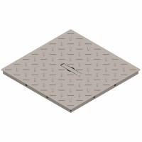 Capac grila, Basic, pentru camin monolitic, otel zincat, A15, 550 x 550 mm