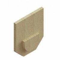 Placa capat fibrobeton, pentru rigole de beton cu H210, fara iesire