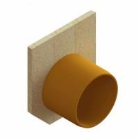 Placa capat fibrobeton, pentru rigole de beton cu H210, iesire D 110 mm