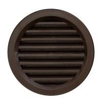 Rama aerisire rotunda, cu plasa, TE-MA, pentru ventilatia incaperilor, maro, D 70 mm