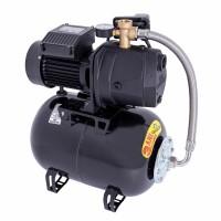 Hidrofor Wasserkonig W4500-48/25H, cu pompa autoamorsanta din fonta + vas 24 L + presostat + manometru + furtun flexibil + racord 5 cai,  1100W