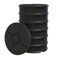 Camin apometru, cu capac si izolatie, PE, D 560 mm, H 850 mm