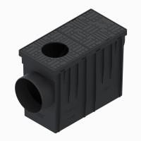 Kit camin scurgere burlan StandartPark, PP, negru, iesire orizontala, A15, 315 x 220 x 140 mm