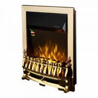 Focar electric incorporabil Galileo, auriu + negru, 2000 W, 485 x 595 x 120 mm