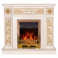 Semineu electric Versailles gold + Galileo gold, ivory + auriu, 2000 W, 1100 x 960 x 300 mm