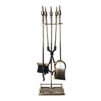 Set Antic, accesorii pentru semineu, metal, 800 mm
