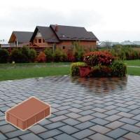 Pavaj rezidential Symmetrica, dreptunghi, rosu, 200 x 100 x 40 mm