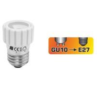 Adaptor dulie E27 - GU10 ceramica si plastic Home