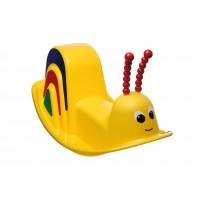 Balansoar copii, melc, din plastic, interior / exterior, 80 x 50 x 46 cm