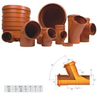 Ramificatie PVC cu inel, 110 x 110 x 67 mm