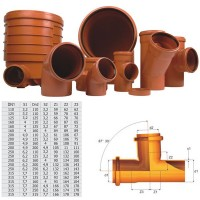 Ramificatie PVC cu inel, 200 x 110 x 87 mm
