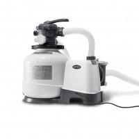 Pompa filtrare apa piscina, Intex 26648, filtru cu nisip, 8 mc/h