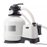 Pompa filtrare apa piscina, Intex 26652, filtru cu nisip, 12000 litri pe ora