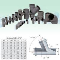 Ramificatie PP HTEA, pentru scurgere, D 40 x 40 mm, 67 grade