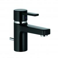Baterie baie pentru lavoar, Kludi Zenta 382508675, montaj stativ, monocomanda, finisaj negru
