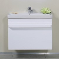 Masca baie pentru lavoar, Arthema Revo 361R-A2, cu sertare, alb lucios, montaj suspendat, 56 x 55 x 43.8 cm