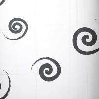 Perdea dus Hypo 4088, model alb + negru, 180 x 180 cm