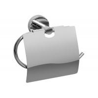 Suport pentru hartie igienica, Bisk For You BIS01179, cu clapeta, cromat