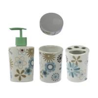 Set accesorii pentru baie, 910025, model floran, 4 piese