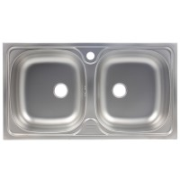 Chiuveta bucatarie inox dekor Franke CIL 620 8836008 cuva dubla 78 x 43.5 cm