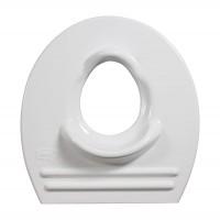 Capac WC adaptor pentru copii, din polipropilena, Lider 53, alb, 390 x 50 mm