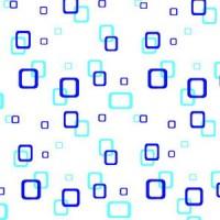 Perdea dus Hypo 4118, model patratele, alb + albastru, 180 x 180 cm