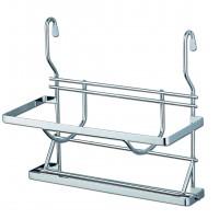 Suport bucatarie, pentru prosop hartie si folie stretch sau aluminiu, dublu etajat, 4002, metal, 31.5 x 18 x 31 cm