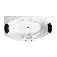 Cada baie cu hidromasaj rectangulara, Angelica, masca frontala si suport incluse, acril, 180 x 100 cm + aeromasaj