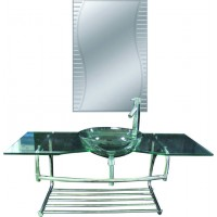 Mobilier din sticla, J01, montaj suspendat, 120 x 45 cm