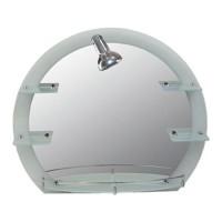 Oglinda baie Lider 904, cu iluminare, 67 x 77 cm, 5 etajere