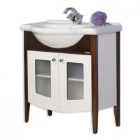 Masca baie pentru lavoar, Arthema Primavera 703 - WA1, cu usi, alb / wenge, 82 x 33 x 80 cm