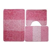 Set covorase baie, roz, set 3 bucati