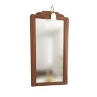 Oglinda baie  cu iluminare, cu rama, Savini Due Cinzia 7051, nuc, 60 x 2 x 112 cm