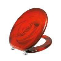Capac WC din MDF, Charme 2FSE156504, rosu, inchidere standard, 360 x 450 mm