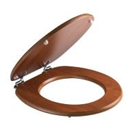 Capac WC din MDF, Savini Due Cwatc, cires, inchidere standard, 375 x 443 mm