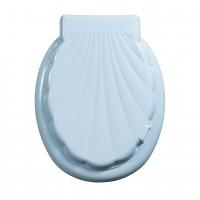 Capac WC din polipropilena, Lider Unik, bleu, inchidere standard, 390 x 50 mm