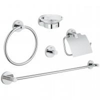 Set accesorii pentru baie, Grohe Essentials 40344001, cromat, 5 piese