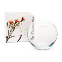 Vaza sticla decorativa, Flora, 16 x 12.5 cm