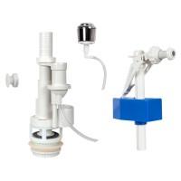 Mecanism WC, actionare pneumatica, Eurociere 1402A, buton cromat