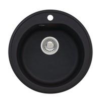 Chiuveta bucatarie compozit algranit Alveus Niagara 10 A91 carbon negru rotunda diametru 51 cm