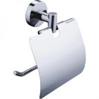 Suport pentru hartie igienica, Kadda Nappy F015, cu clapeta, cromat, 15 x 5.2 x 15 cm