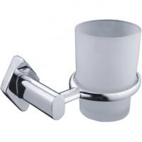 Pahar baie pentru igiena personala, cu suport, Kadda Levy 33884, sticla, prindere pe perete, mat