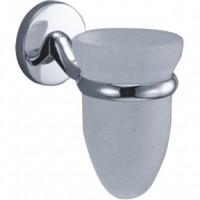 Pahar baie pentru igiena personala, cu suport, Kadda Pinto 41884, sticla, prindere pe perete, mat